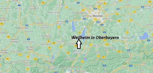 Wo liegt Weilheim in Oberbayern
