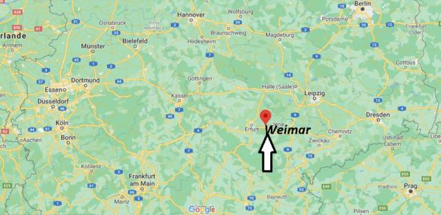 Wo liegt Weimar