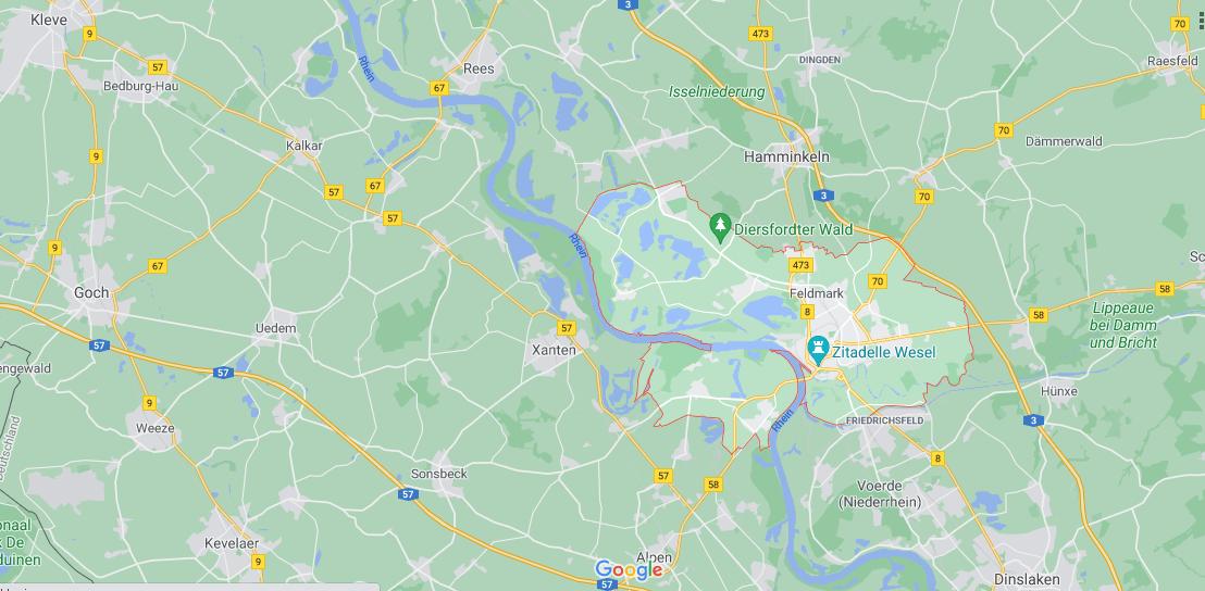 In welchem Bundesland liegt Wesel