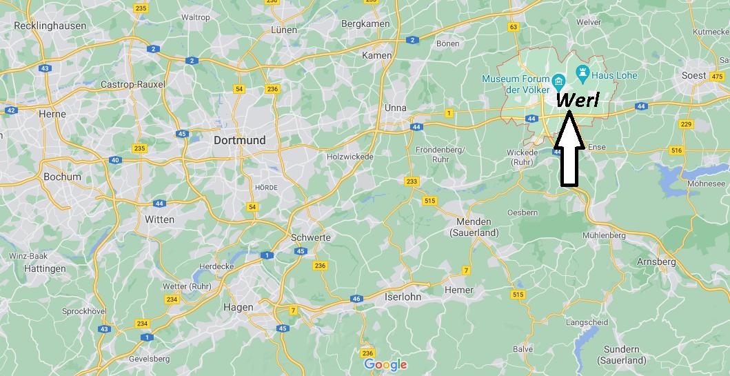 Wo ist Werl (Postleitzahl 59457)