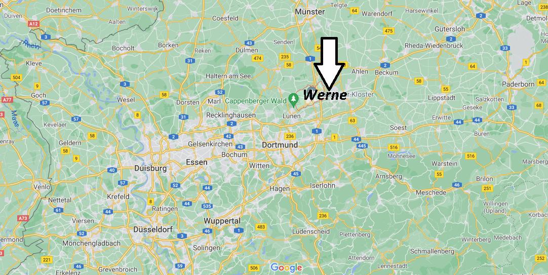 Wo ist Werne (Postleitzahl 69368)