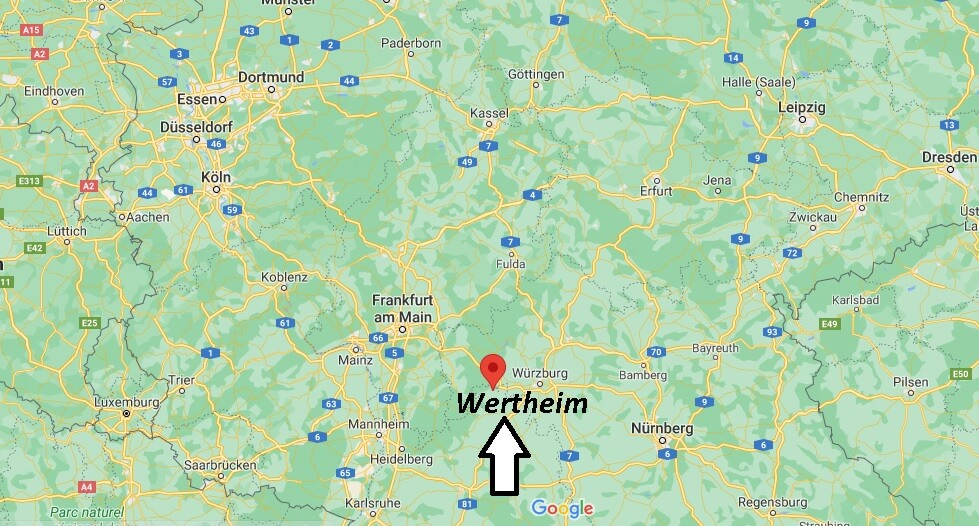 Wo ist Wertheim (Postleitzahl 97877)