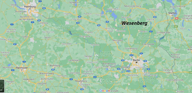 Wo ist Wesenberg (Postleitzahl 17255)