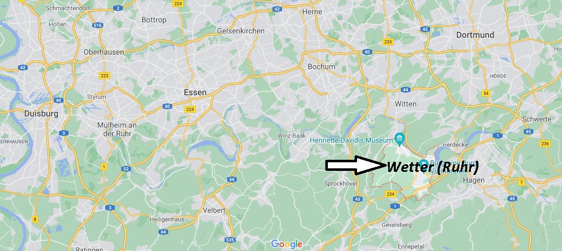 Wo ist Wetter an der Ruhr (Postleitzahl 58300)