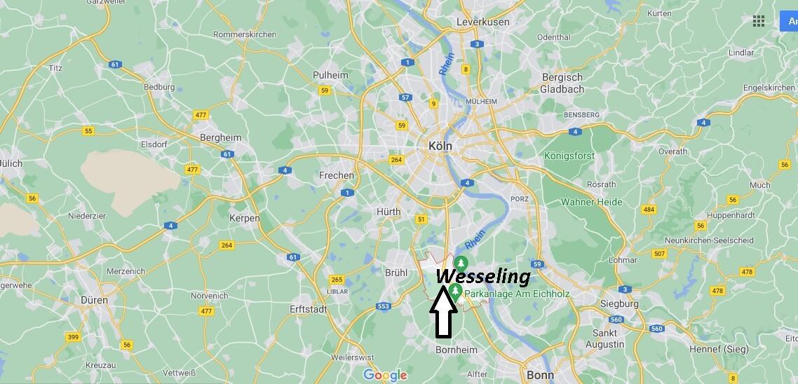 Wo liegt Wesseling