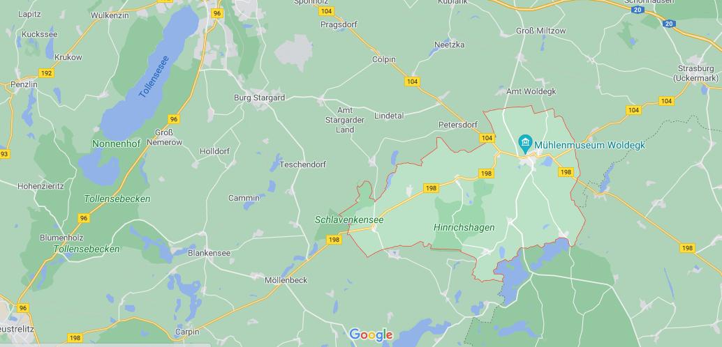 In welchem Bundesland liegt Woldegk