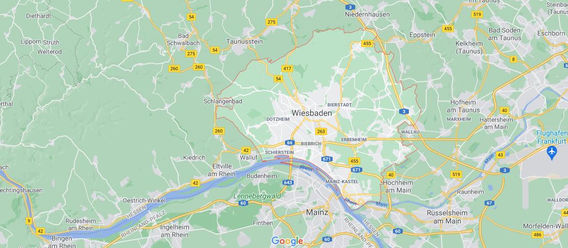 Wo genau liegt Wiesbaden