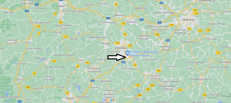 In welchem Bundesland liegt Wilkau-Haßlau