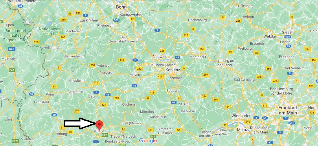 Wo ist Wittlich (Postleitzahl 54516)
