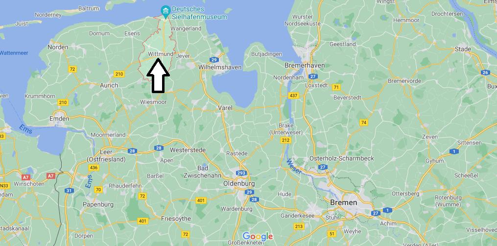 Wo ist Wittmund (Postleitzahl 26409)
