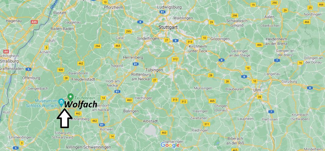 Wo ist Wolfach (Postleitzahl 77709)
