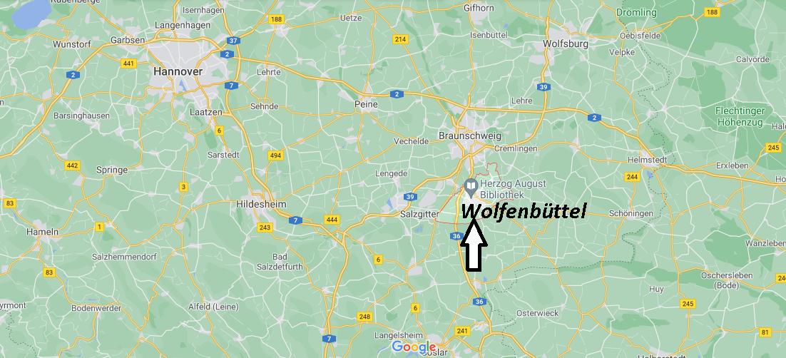 Wo ist Wolfenbüttel (Postleitzahl 38300)