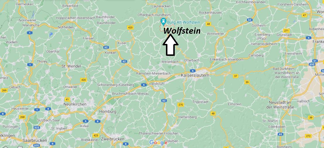 Wo ist Wolfstein (Postleitzahl 67752)