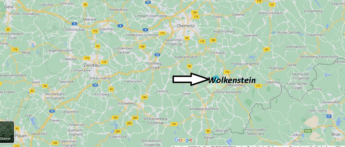 Wo ist Wolkenstein (Postleitzahl 09429)