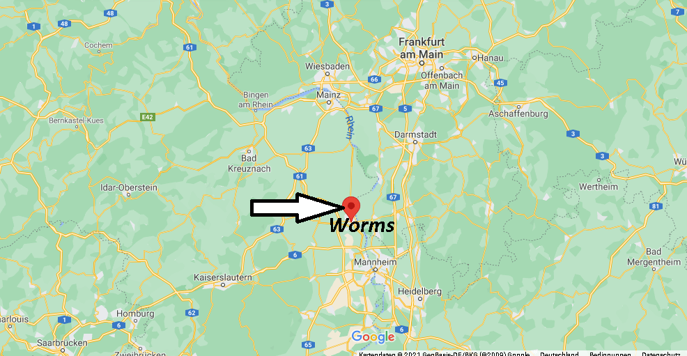 Wo ist Worms (Postleitzahl 67547)