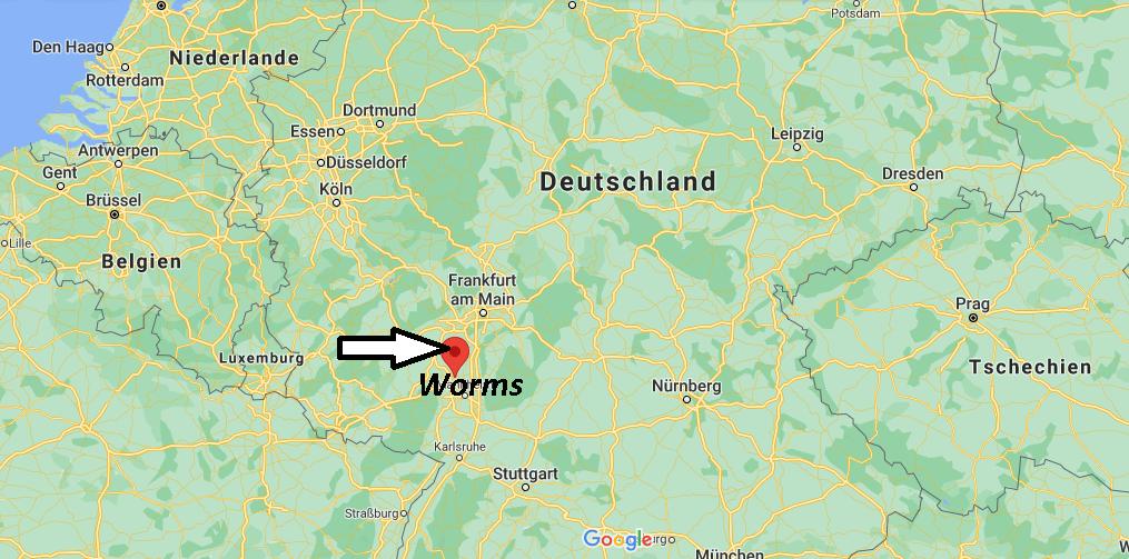 Wo liegt Worms