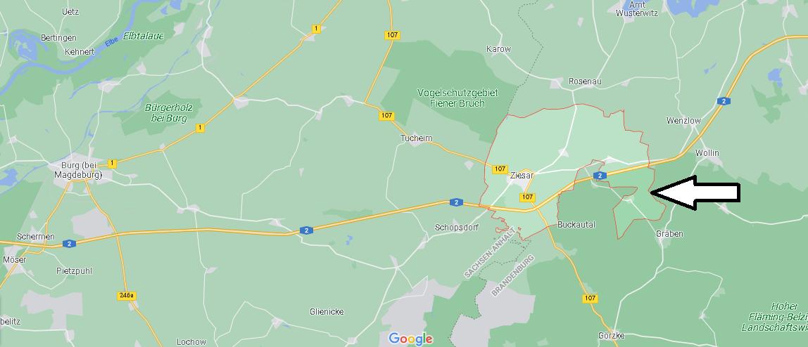 In welchem Bundesland liegt Ziesar
