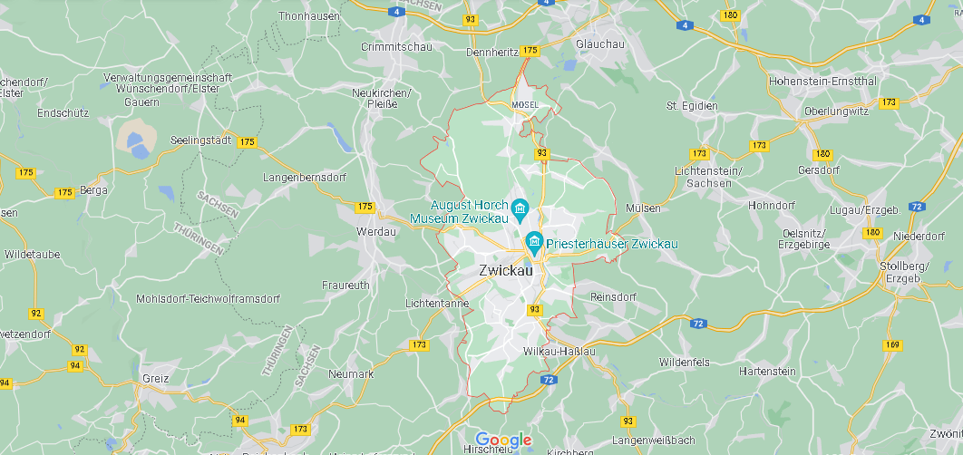 In welchem Bundesland liegt Zwickau