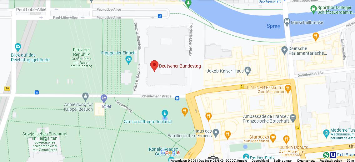 In welcher Straße ist der Bundestag