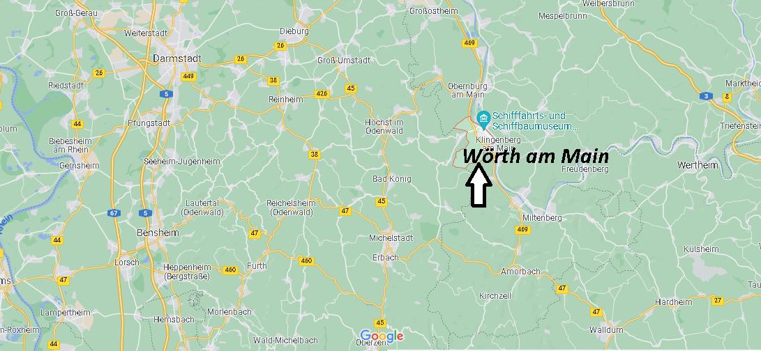 Wo ist Wörth am Main (Postleitzahl 63939)