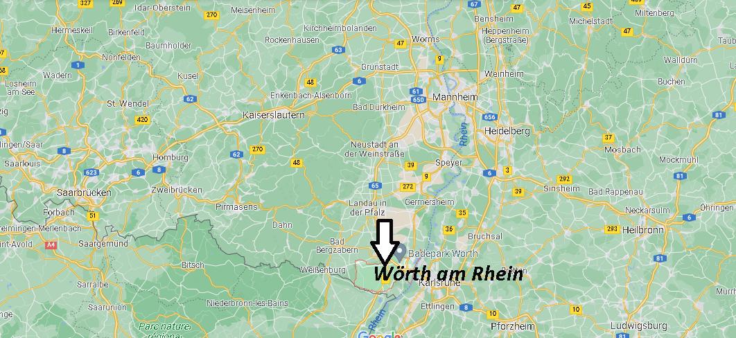 Wo ist Wörth am Rhein (Postleitzahl 76744)