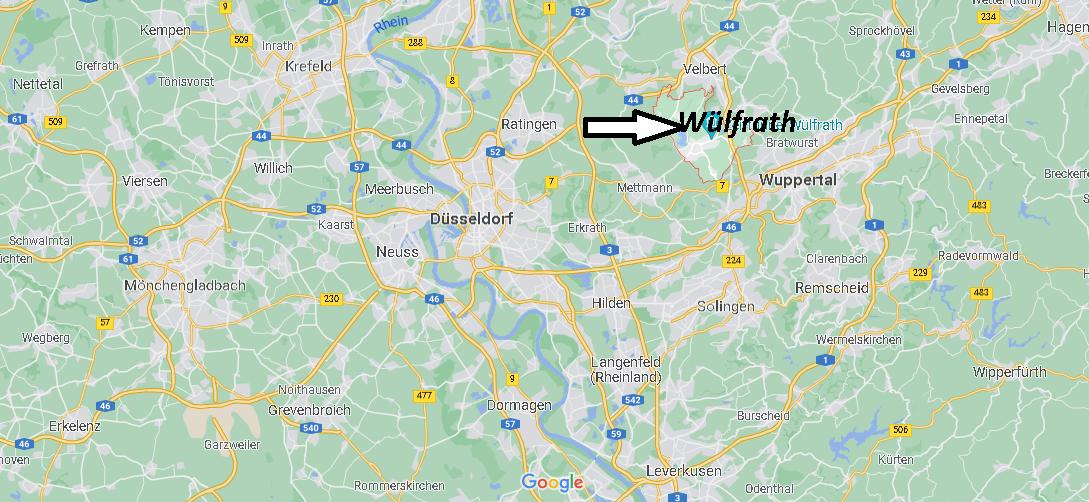 Wo ist Wülfrath (Postleitzahl 42489)