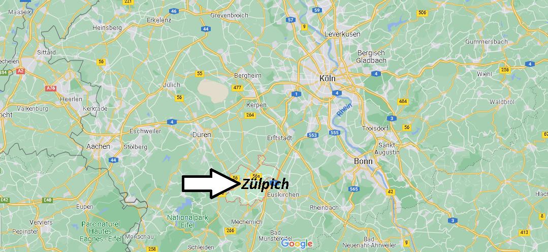 Wo ist Zülpich (Postleitzahl 53909)