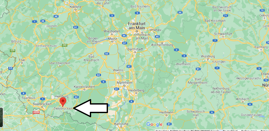 Wo ist Zweibrücken (Postleitzahl 66482)
