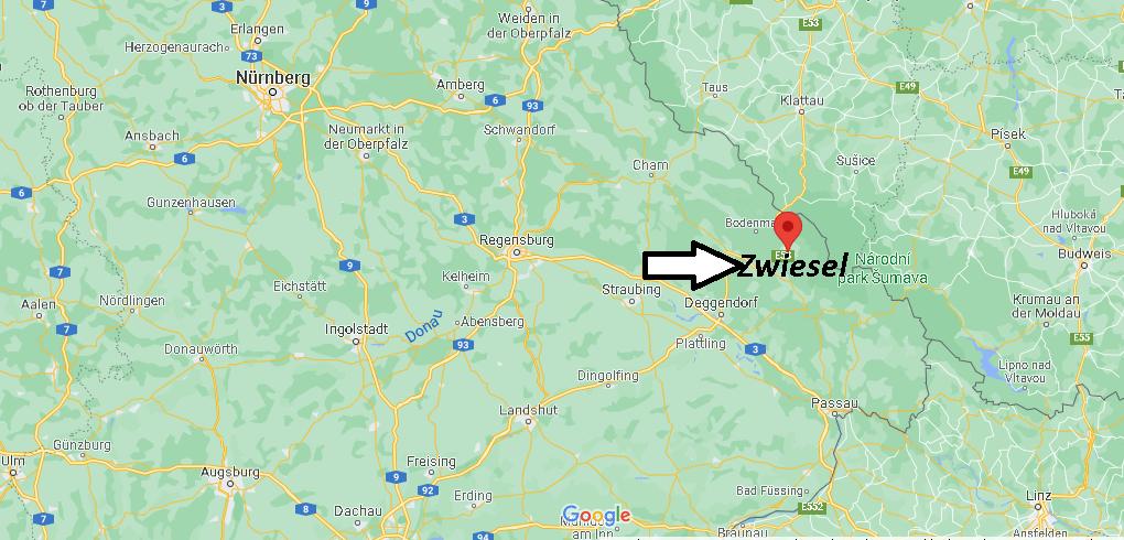 Wo ist Zwiesel (Postleitzahl 94227)