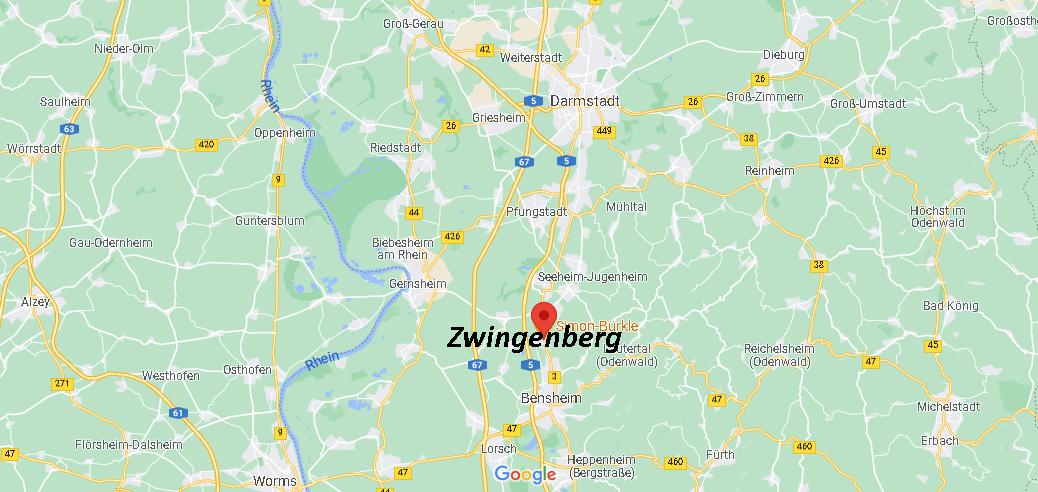 Wo ist Zwingenberg (Postleitzahl 64673)