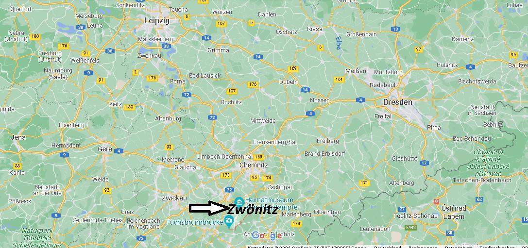 Wo ist Zwönitz (Postleitzahl 08297)