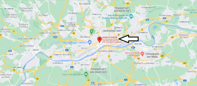 Wo liegt Main Tower (Frankfurt am Main)