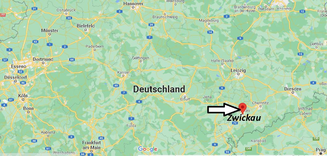 Wo liegt Zwickau
