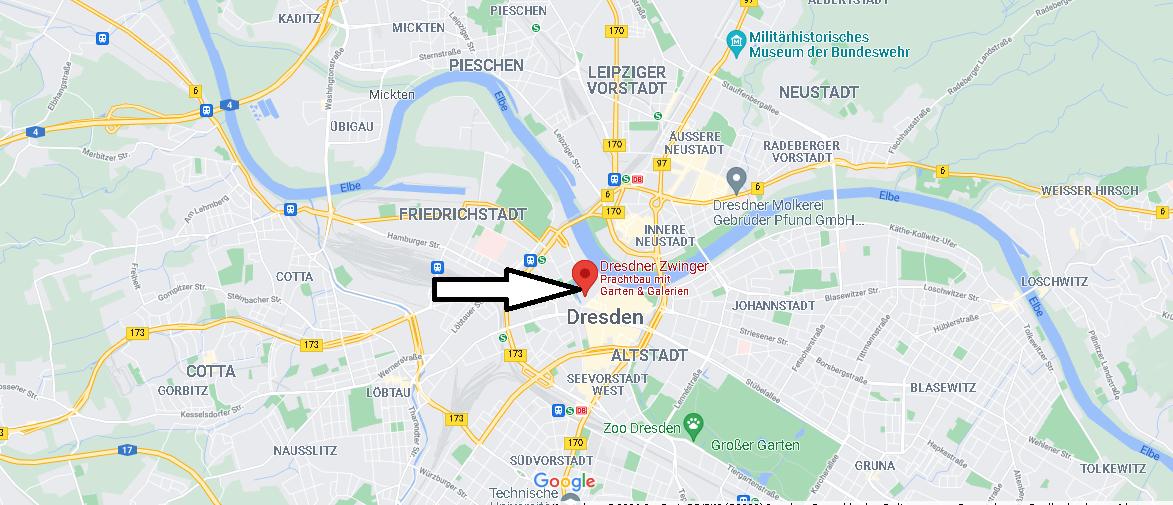 Wo liegt der Dresdner Zwinger