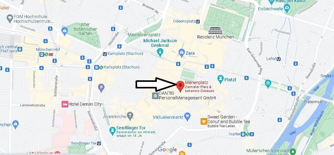 Wo liegt der Marienplatz
