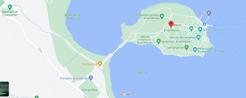 Wie kommt man auf die Insel Mainau