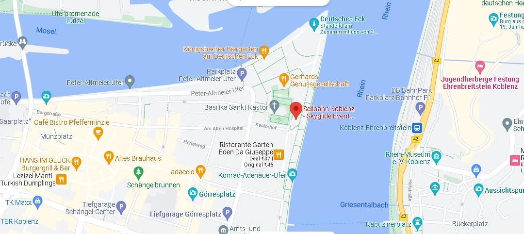 Wo fährt die Seilbahn in Koblenz hin