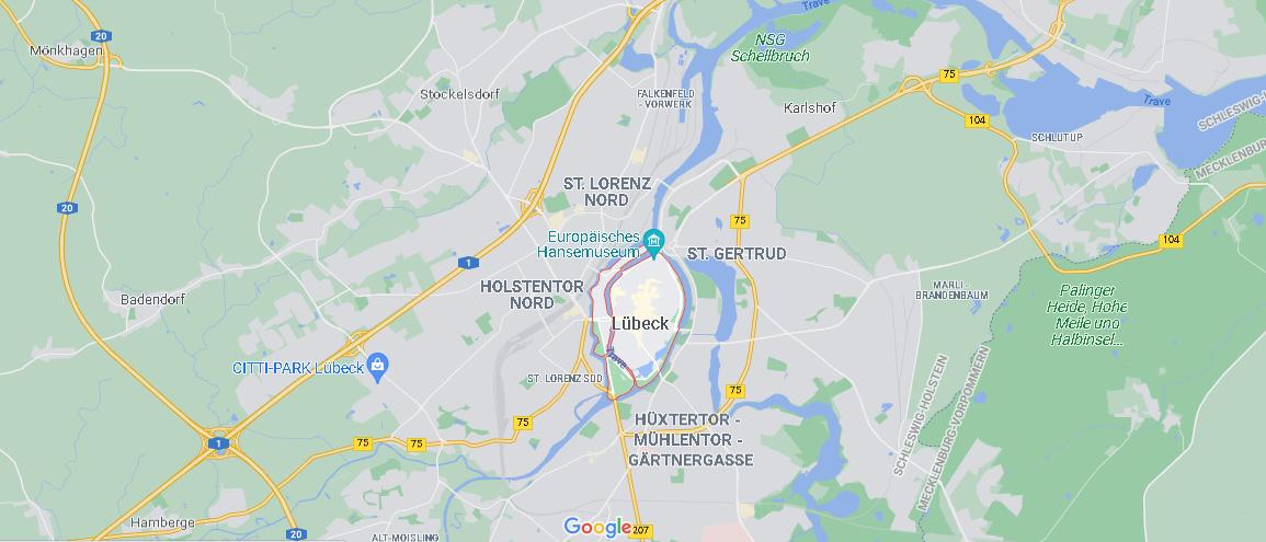 Wo genau liegt Lübeck