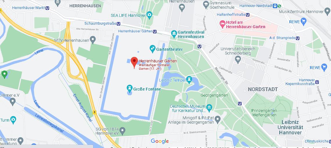 Wo ist Herrenhäuser Gärten