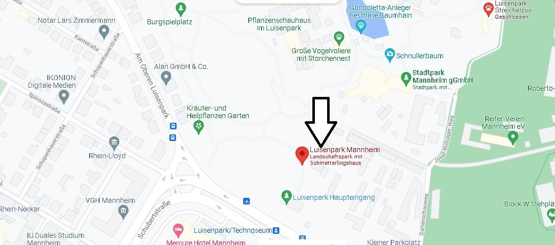 Wo ist Luisenpark Mannheim