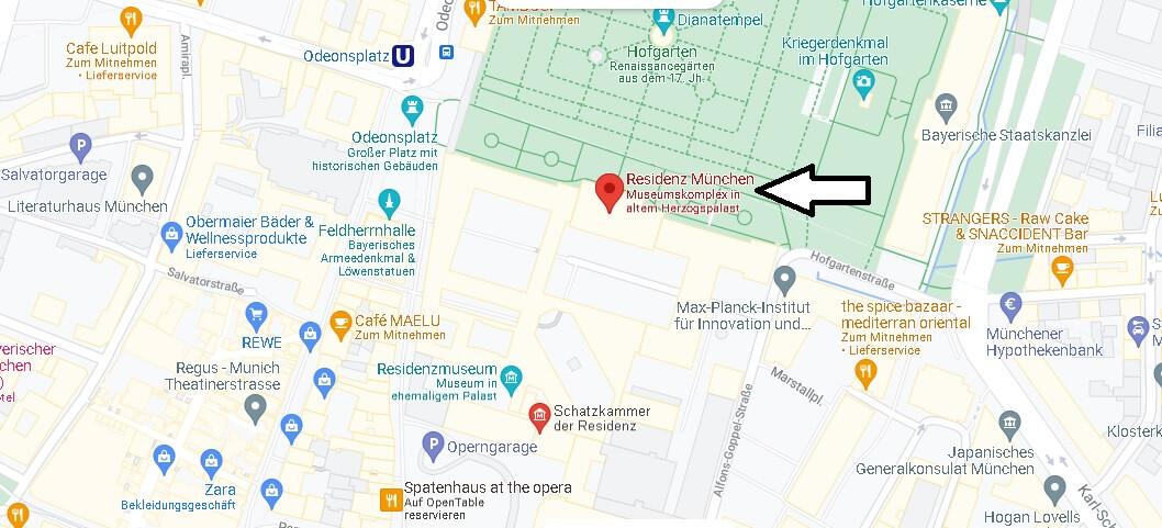 Wo ist Residenz München