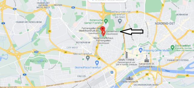 Wo ist der Palmengarten in Frankfurt