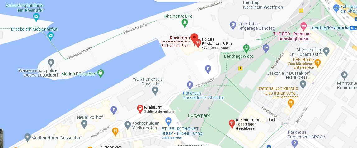 Wo ist der Rheinturm