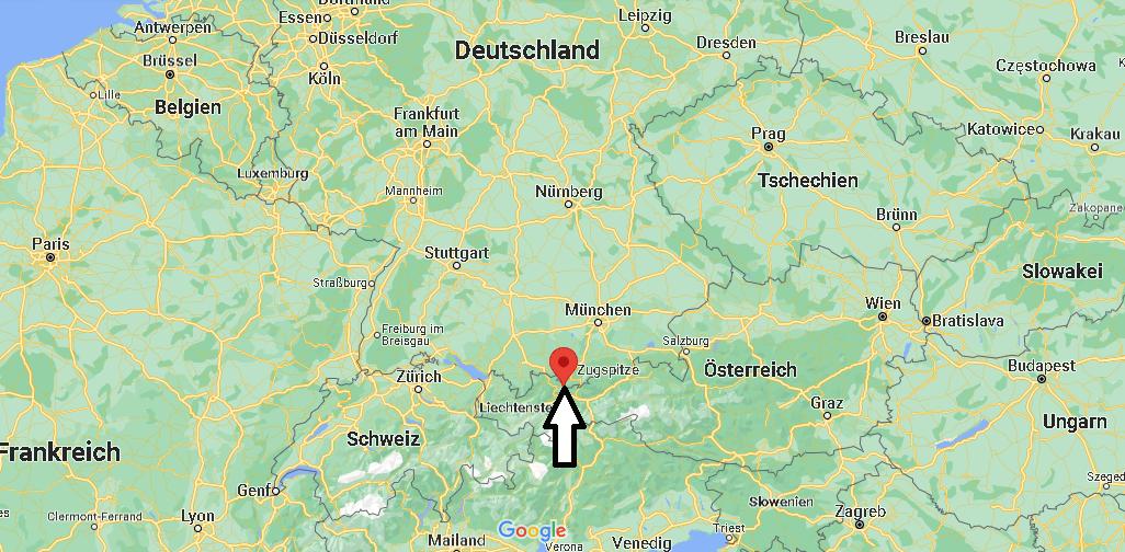 Wo liegt Die Zugspitze in Deutschland