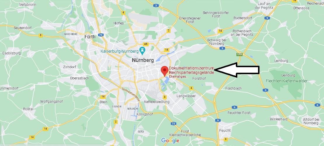 Wo liegt Dokumentationszentrum Reichsparteitagsgelände