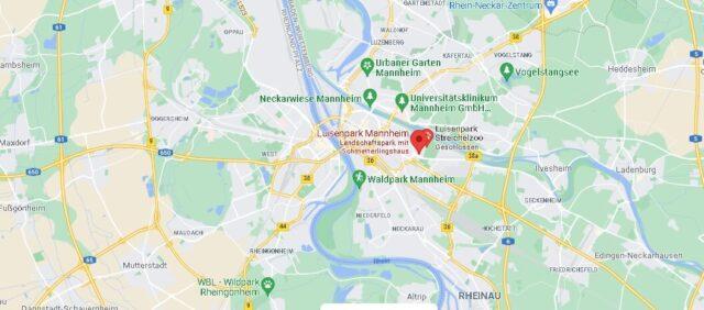 Wo liegt Luisenpark Mannheim