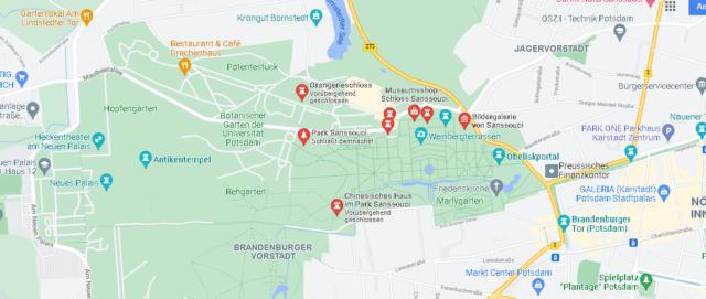 Wo liegt Park Sanssouci