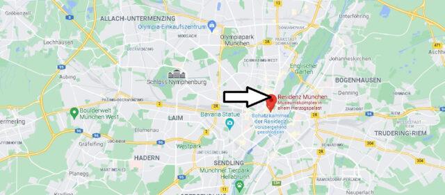 Wo liegt Residenz München