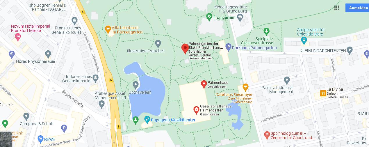 Wo liegt der Palmengarten in Frankfurt